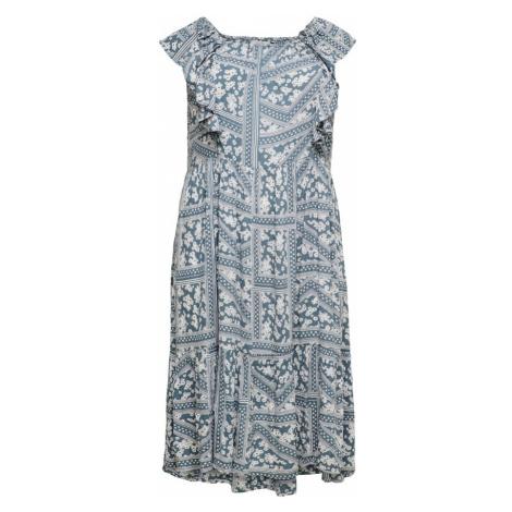 ONLY Carmakoma Šaty  modrosivá / biela