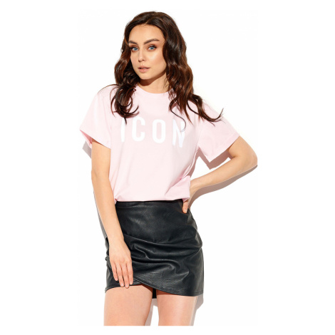 Dámske svetloružové tričko s krátkym rukávom LG532 Lemoniade