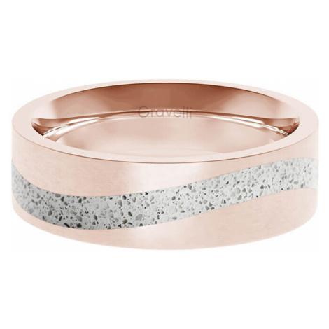 Gravelli Betónový prsteň Curve bronzová / sivá GJRWRGG113 mm