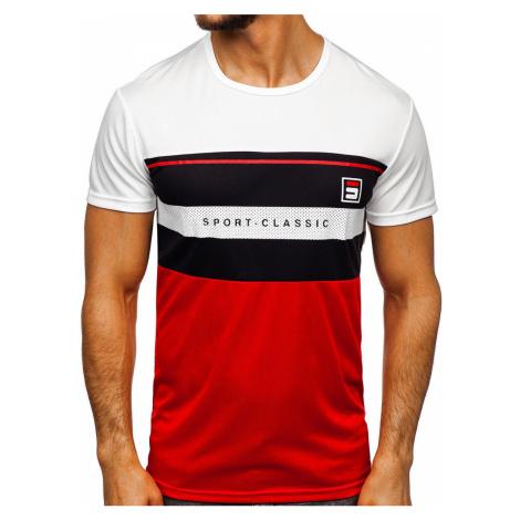 Biele pánske tričko s potlačou Bolf SS10995