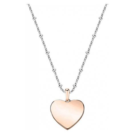 Morellato Bicolor náhrdelník so srdiečkom Love SOR16