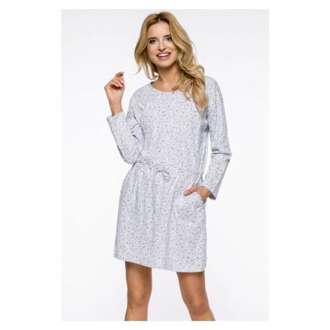 Sivá vzorovaná nočná košeľa Ksara Taro