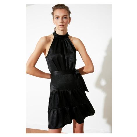 Trendyol Black Belt HalterNeck Dress