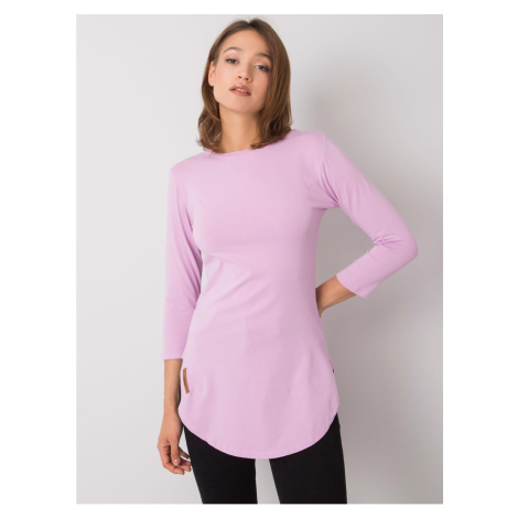 Women's light purple cotton blouse