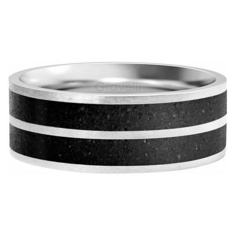 Gravelli Betónový prsteň Fusion Double line oceľová / antracitová mm
