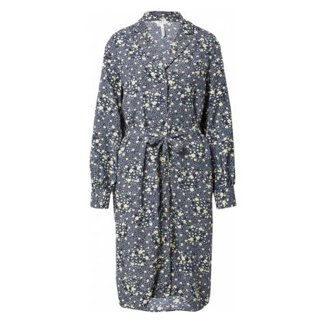 OBJECT Košeľové šaty 'FIONA'  tmavomodrá / svetložltá / tyrkysová