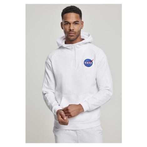 MR.TEE Pánska mikina NASA Chest EMB Hoodie Farba: white