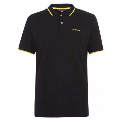 Ben Sherman Short Sleeve Polo Shirt Black