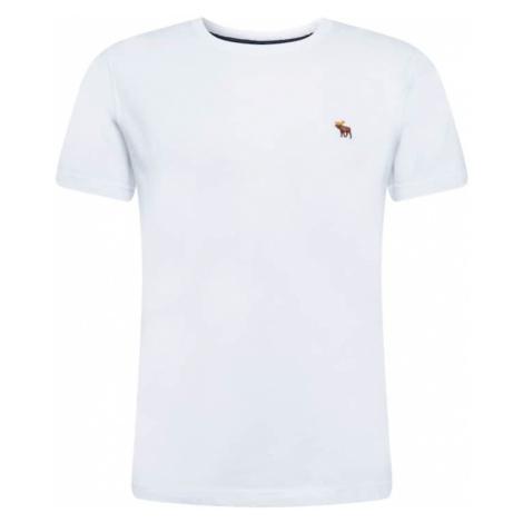 Abercrombie & Fitch Tričko  biela / hnedá