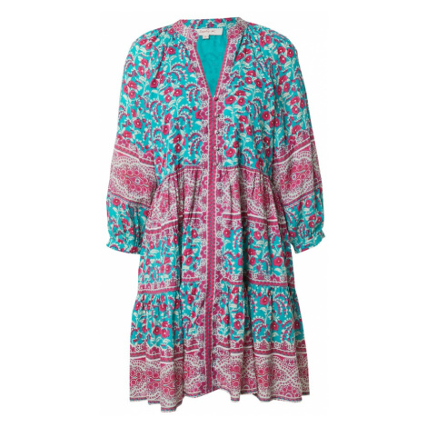 Derhy Košeľové šaty 'SAVOIE ROBE'  tyrkysová / ružová / biela