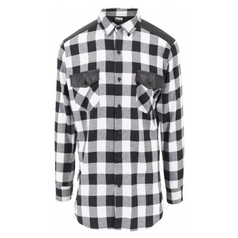 Urban Classics Košeľa  biela / čierna