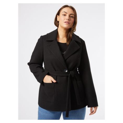 Čierny krátky kabát Dorothy Perkins Curve