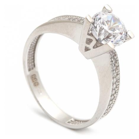 Zlatý zásnubný prsteň LONGINA