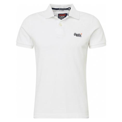 Superdry Tričko  biela / námornícka modrá