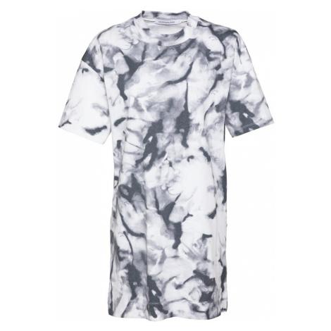 Calvin Klein Jeans Šaty  sivá / grafitová / biela