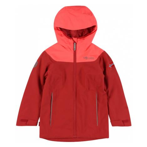 TROLLKIDS Outdoorová bunda 'Bergen'  červená / grenadínová / sivá / kráľovská modrá