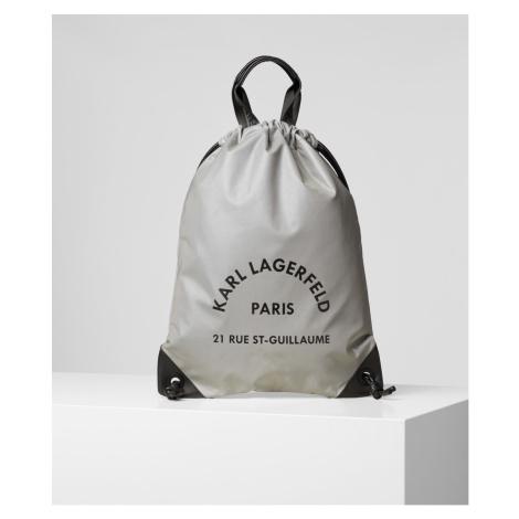 Batoh Karl Lagerfeld Rue St Guillaume Flat Backpack - Šedá