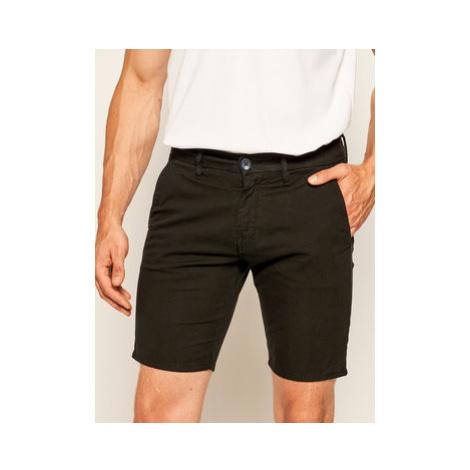 Guess Bavlnené šortky Daniel M02D05 WCRK1 Čierna Slim Fit