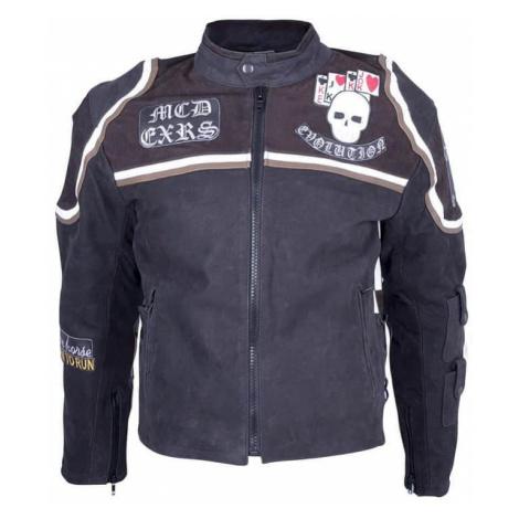 Kožená moto bunda Sodager Micky Rourke Farba čierna s grafikou