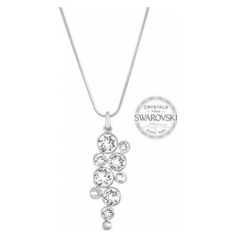 Levien Slušivý náhrdelník Chaton Crystal mix