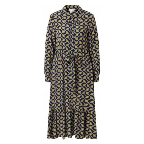 Ted Baker Košeľové šaty 'Kwalaa'  námornícka modrá / biela / žltá