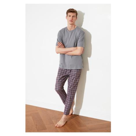 Trendyol Rose Dry Plaid Woven Pajama Set