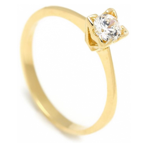 Zlatý zásnubný prsteň CALLA