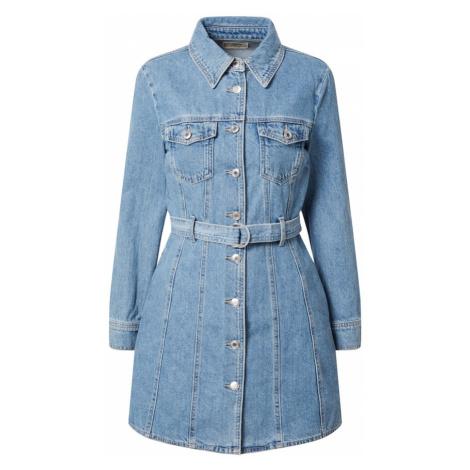 Tally Weijl Košeľové šaty  modrá denim