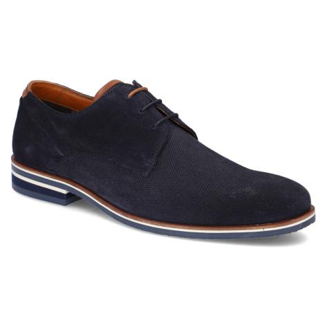 Pat Calvin velúr Elegantná šnurovacia obuv modrá