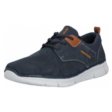 RIEKER Športové šnurovacie topánky  tmavomodrá