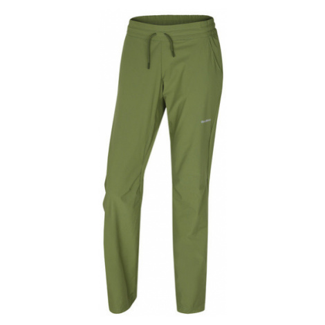 Dámske softshellové nohavice Husky Speedy Long L tm.zelená