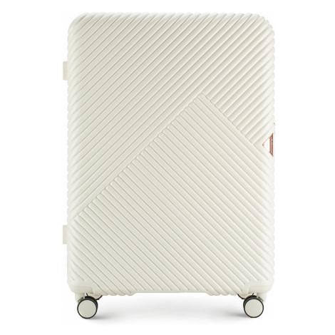 Biely veľký cestovný kufor Wittchen