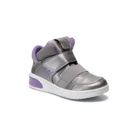 Geox Sneakersy J Xled G. A J848DA 0NF6K C1335 D Strieborná