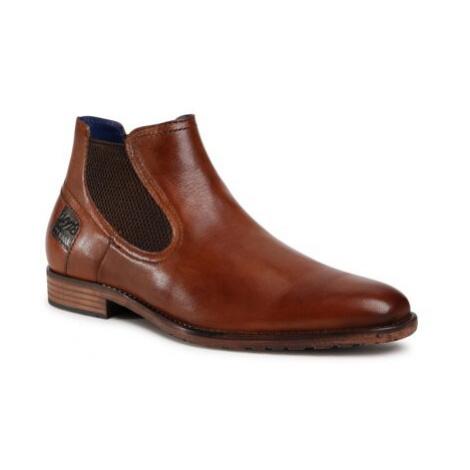 Členkové topánky Bugatti 315-95630-4000-6300 Prírodná koža(useň) - Lícova