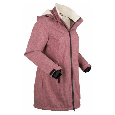 Funkčná outdoorová dlhá bunda s kožušinovým flísom bonprix