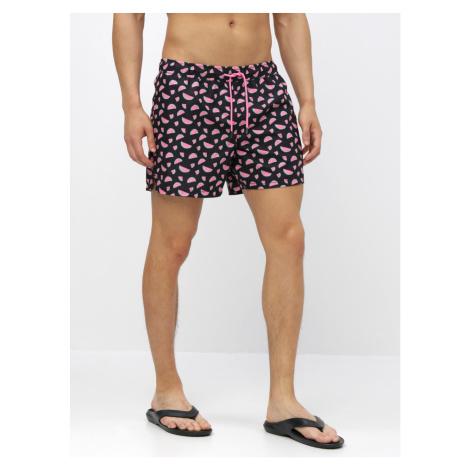 Happy Socks Black Men's Patterned Swimsuit