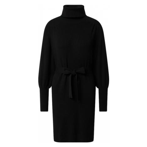 EDITED Pletené šaty 'Malene'  čierna