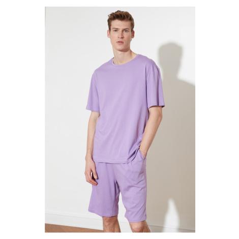 Trendyol Purple Knitted Pyjama Set