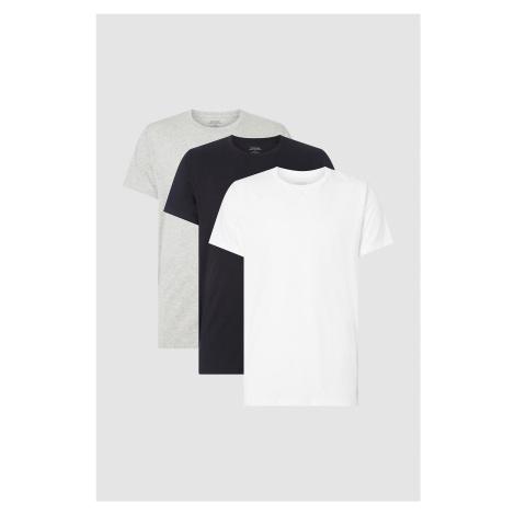 Calvin Klein 3 balenie pánských tričiek - čierna, sivá, biela Veľkosť: S