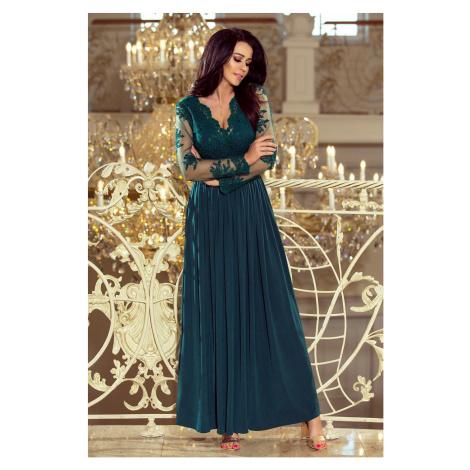 Dámske dlhé spoločenské zelené šaty BIONDA 213-1