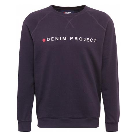 Denim Project Mikina  námornícka modrá / biela