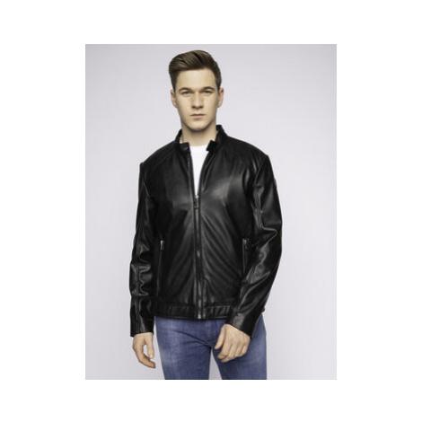 Trussardi Jeans Kožená bunda 52S00414 Čierna Regular Fit