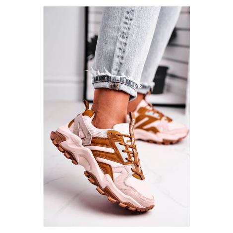 Women's Sport Shoes Sneakers Big Star Beige GG274664