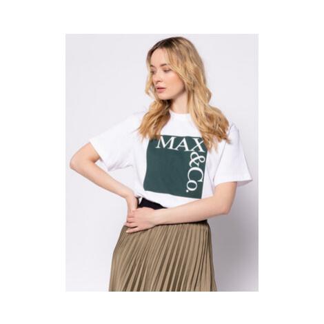 MAX&Co. Tričko Tee 49719620 Biela Regular Fit