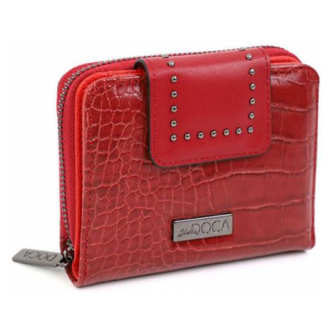 Doca červené malá peňaženka s logom