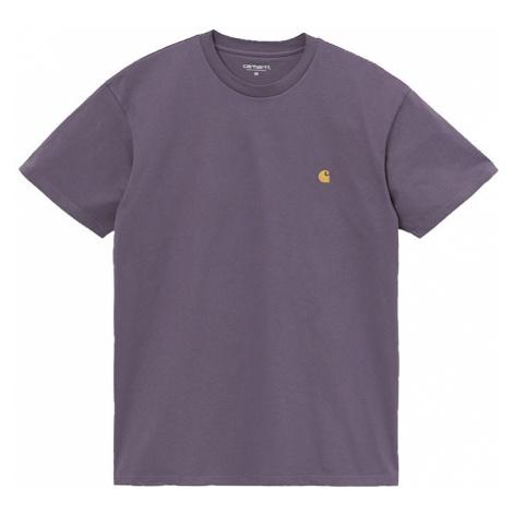 Carhartt WIP S/S Chase T-Shirt Provence / Gold XL fialové I026391_0AF_90-XL