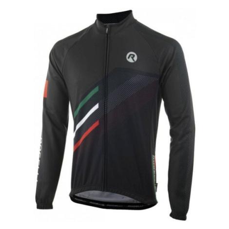 voľnejšie cyklistický dres Rogelli TEAM 2.0 s dlhým rukávom, čierny 001.971.