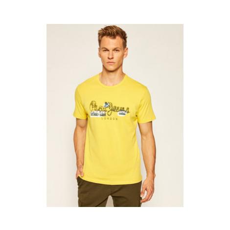Pepe Jeans Tričko Salomon PM507272 Žltá Regular Fit