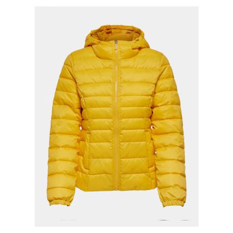 Žltá zimná prešívaná bunda ONLY New Thaoe
