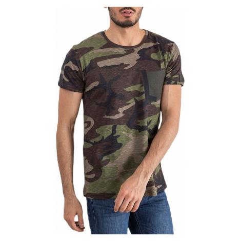 Zelené pánske camo tričko MECHANICH